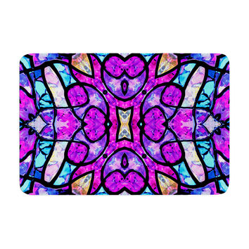 "Art Love Passion ""Kaleidoscope Dream"" Pink Purple Memory Foam Bath Mat"