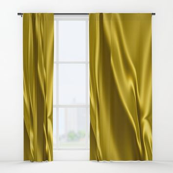 Gold satin texture Window Curtains by Natalia Bykova