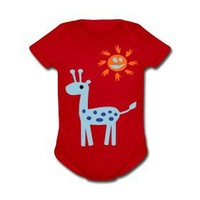 Cute Giraffe Baby Short Sleeve One Piece | Story T-Shirts