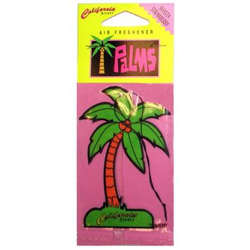 California Scents Shasta Strawberry Palms Hang Outs Car Air Freshener