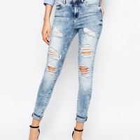 Noisy May Tall Distressed Lucy Jean
