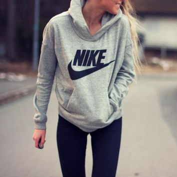 Nike Print Long Sleeve Hoodies Sweatershirt