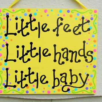 Little Feet Little Hands Little Baby, Dave Matthews decor, DMB Nursery Art, Baby Shower Gift, Nursery Decor, Dave Matthews So Much To Say