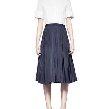 Pink Tartan Pleated Skirt