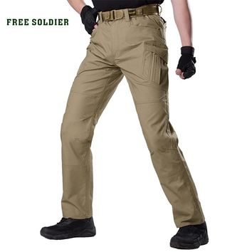 FREE SOLDIER outdoor sport camping tactical military men's pant combat breathable multi pocket pant for hiking water repellent