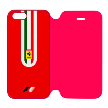 Fernando Alonso F1 Ferrari Scuderia Team iPhone 5 | 5S Flip Case Cover
