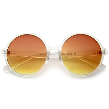 Disco Transparent Color Gradient Lens Round Sunglasses A314