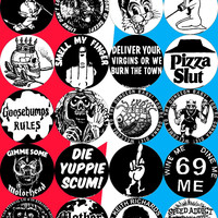 """SMALL 1.25"""" BLITZKRIEG BUTTONS - SNOTTY SAYINGS - S34"""