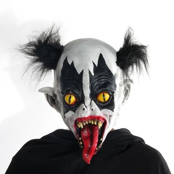 H&D Halloween Horrific Demon Adult Scary Clown Cosplay Props Devil Flame Zombie Mask