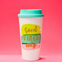"""Good Vibes Only"" Thermal Tumbler"