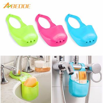 ABEDOE Mini Sink Storage Bag Hanging Basket Water Tank Shelf Organizer for Toilet Kitchen Gadgets Accessories