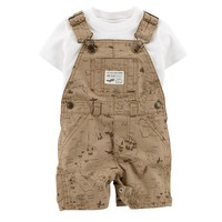 Carter's Tee & Map Shortalls Set - Baby Boy, Size: