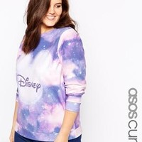 ASOS Curve | ASOS CURVE Exclusive Sweatshirt With Disney Mickey Moon Print at ASOS