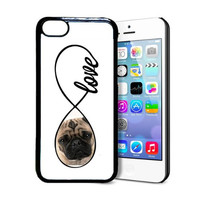 SudysAccessories Pug Love Pug Infinity Love Thinshell Plastic Protective IPhone 5C Case
