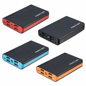 50000mAh 4 USB Backup External Battery Power Bank Pack Charger for Cell Phone