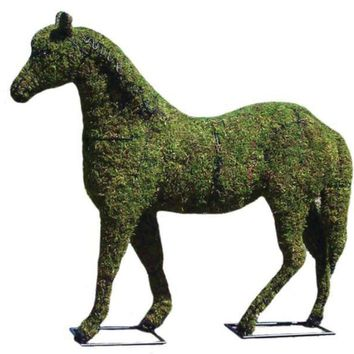 """Horse 20"""", 30"""", 41"""", 57"""" and 81"""" Topiary Sculpture - Wire Frame or Moss Filled"""