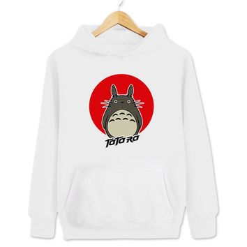 Totoro Women's & Men's Unisex Casual White Pullover Hoodie