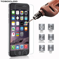 Screen Film Cover Tempered Glass For iPhone 5 5S 4 4S 5C SE 6S 6 7 Plus Case Protect Slim Protector For iPhone 7 6 6S Cases