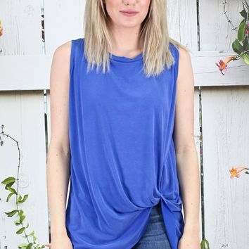 Get Twisted Comfy Basic Tank {Royal Blue}