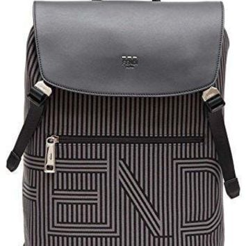 Fendi Men's 7vz031ommf07al Black Polyamide Backpack