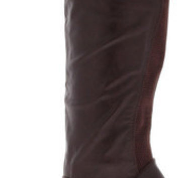 ERICKA48 OXBLOOD KNEE HIGH HEEL BOOT