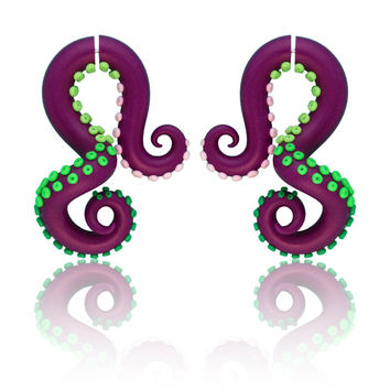 Fake Gauge Earrings or Octopus Gauge