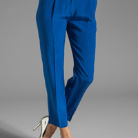 Milly Solid Silk Nicole Pant in Cobalt from REVOLVEclothing.com