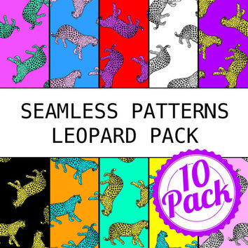 Printable Seamless Patterns - Leopard Pack - Digital Scrapbook Paper