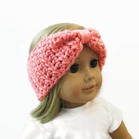 Pink Crochet Headband 18 Inch Doll Accessories