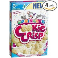 Cookie Crisp Sprinkles Cereal, 12.2-Ounce Boxes (Pack of 4)