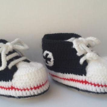 b2a92f165171 Shop Crochet Converse Baby Shoes on Wanelo