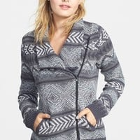Junior Women's Rip Curl 'Winter Bird' Knit Jacket