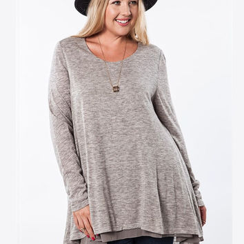 Heather Grey Tunic by Umgee Plus