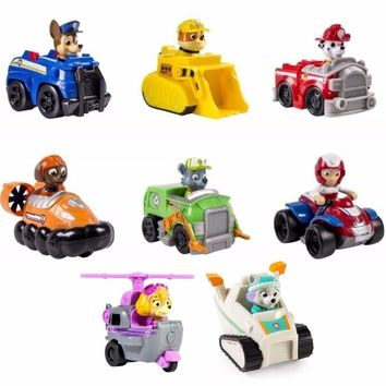 Paw Patrol dog patrulla canina Toys Anime Figurine Car Plastic Toy Action Figure model Children Gifts toys