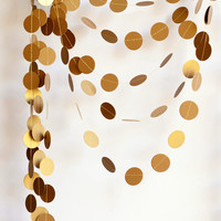Antique gold garland - Shimmer garland - ( 21 color option ) Holiday decoration - Paper garland