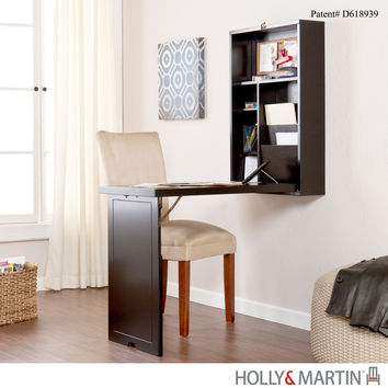 Holly & Martin Leo Fold-Out Convertible Desk-Black