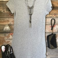 Fun in the Sun Tunic Dress: Heather Grey
