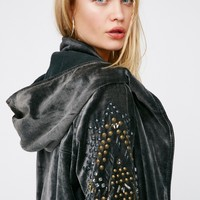 Free People Studded Velvet Parka