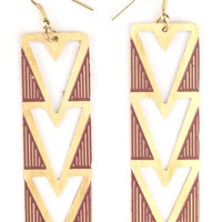 Heart Deco Design Earrings