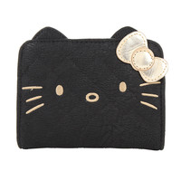 Hello Kitty Gold Face With Ears Wallet