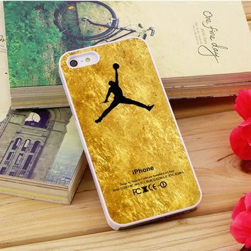 Michael Jordan Golden Gold Pattern iPhone 5|5S|5C Case Auroid
