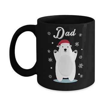 Dad Bear Christmas Santa Pajamas Mug