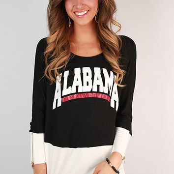 University of Alabama Color Block Tunic