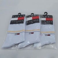 DCCKNQ2 Tommy Hilfiger Woman Men Cotton Socks