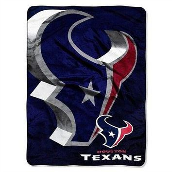 Houston Texans NFL 60x80 Micro Bevel Raschel Plush Throw