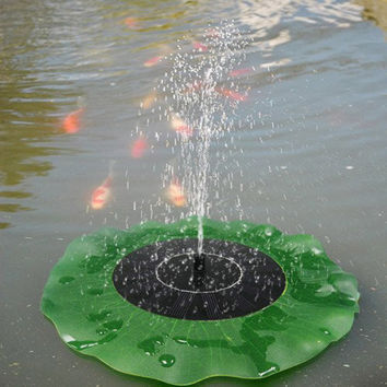 Solar Floating Lotus Leaf Fountain Water Pump Garden Pond Decoration