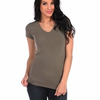 Majestic Short Sleeve V-neck Tee
