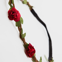 Trinity Floral Headband - Red - One Size / Red