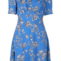 Branch Floral Tea Dress - Dresses  - Clothing