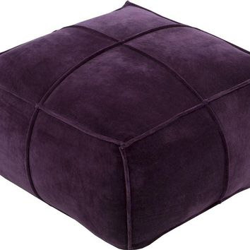 Cotton Velvet Cube Pouf